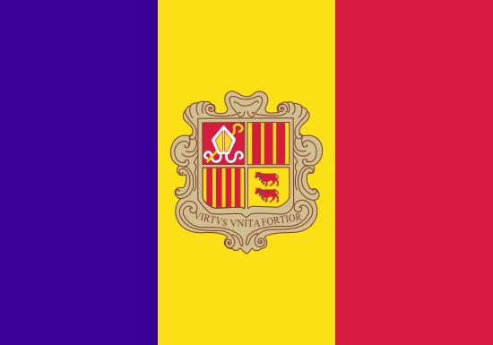 アンドラ公国国旗