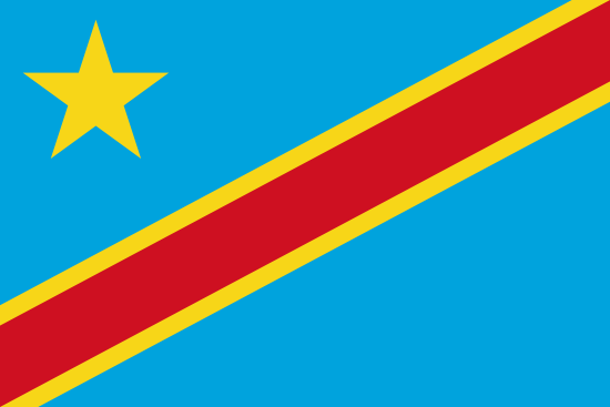 コンゴ民主共和国国旗
